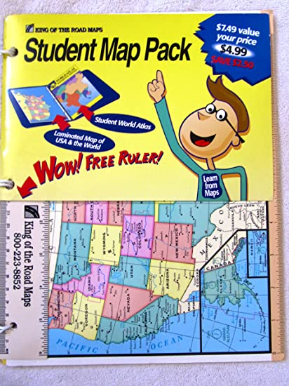Amazon.com : King of the Roads Maps -STUDENT Map Pack : Everything on king water, king county map, king fire maps, king airport maps, king calligraphy,