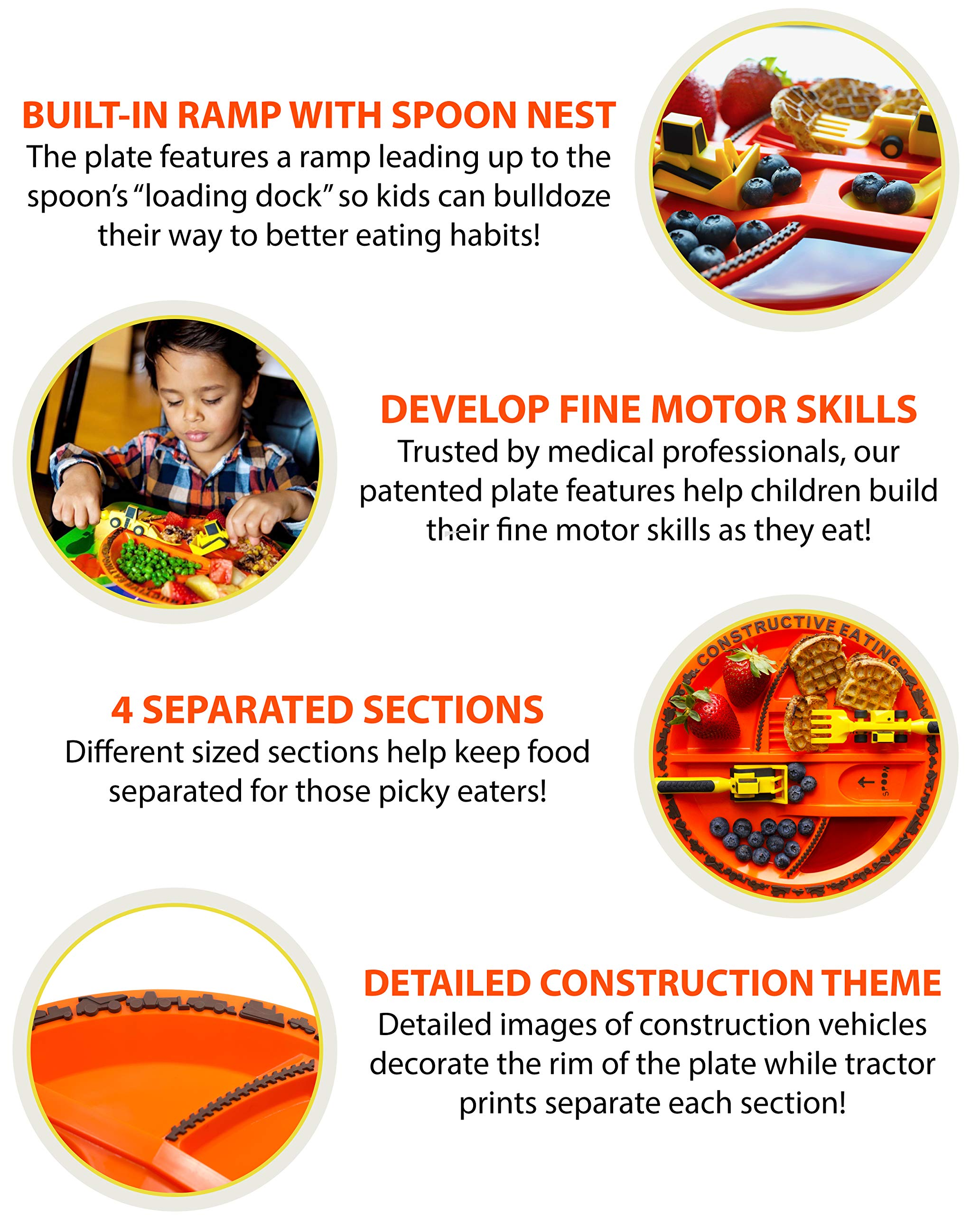 Construction Combo with Utensil Set Plate and Placemat Constructive Eating