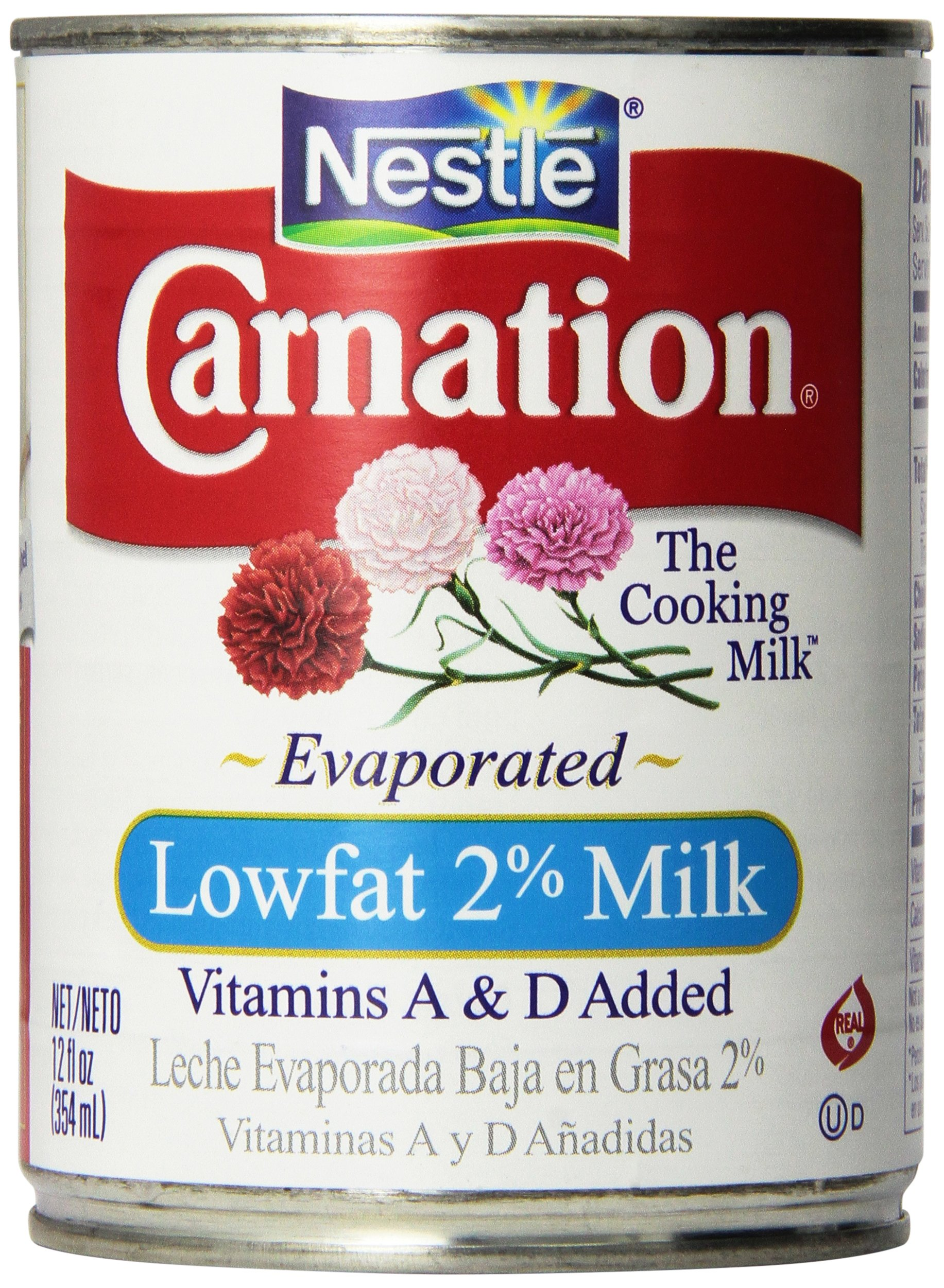 Carnation, Evaporated Milk, Low Fat, 12oz Can (Pack of 4)