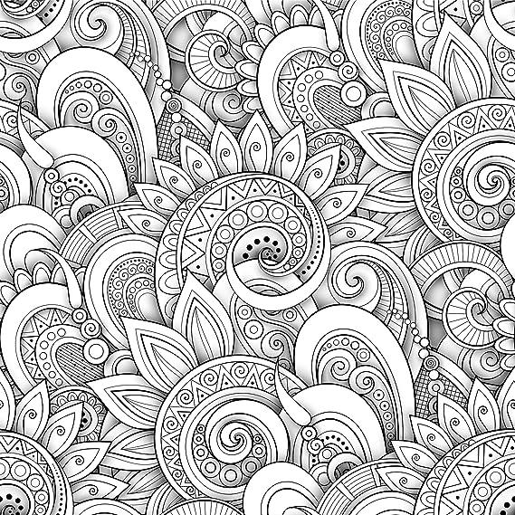 Linien MEGADECOR Kopfteil f/ür Bett geometrisch abstraktes Design dekorativ Schwarz PVC