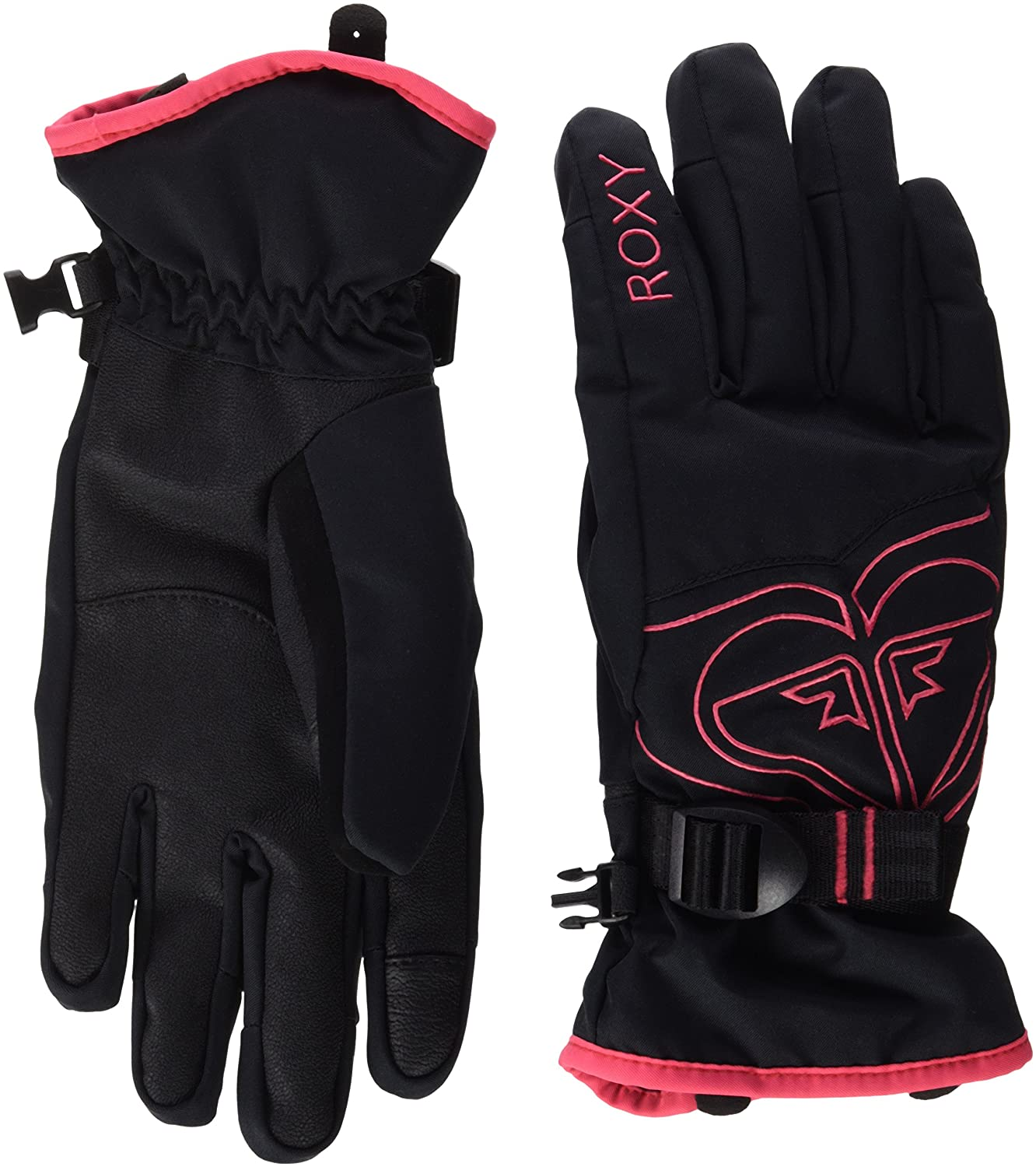 Roxy Popis – Guantes nieve para mujer, color negro, talla XL