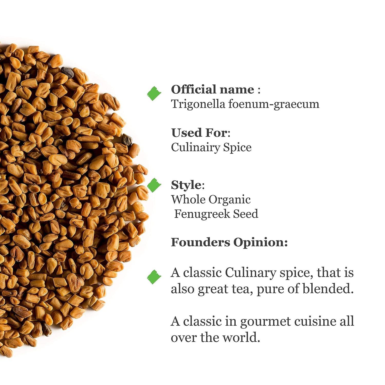 Fenugreek Seed Organic Quality Seeds - Culinairy Grade - Real Trigonella Foenum-graecum 100g 3.52...