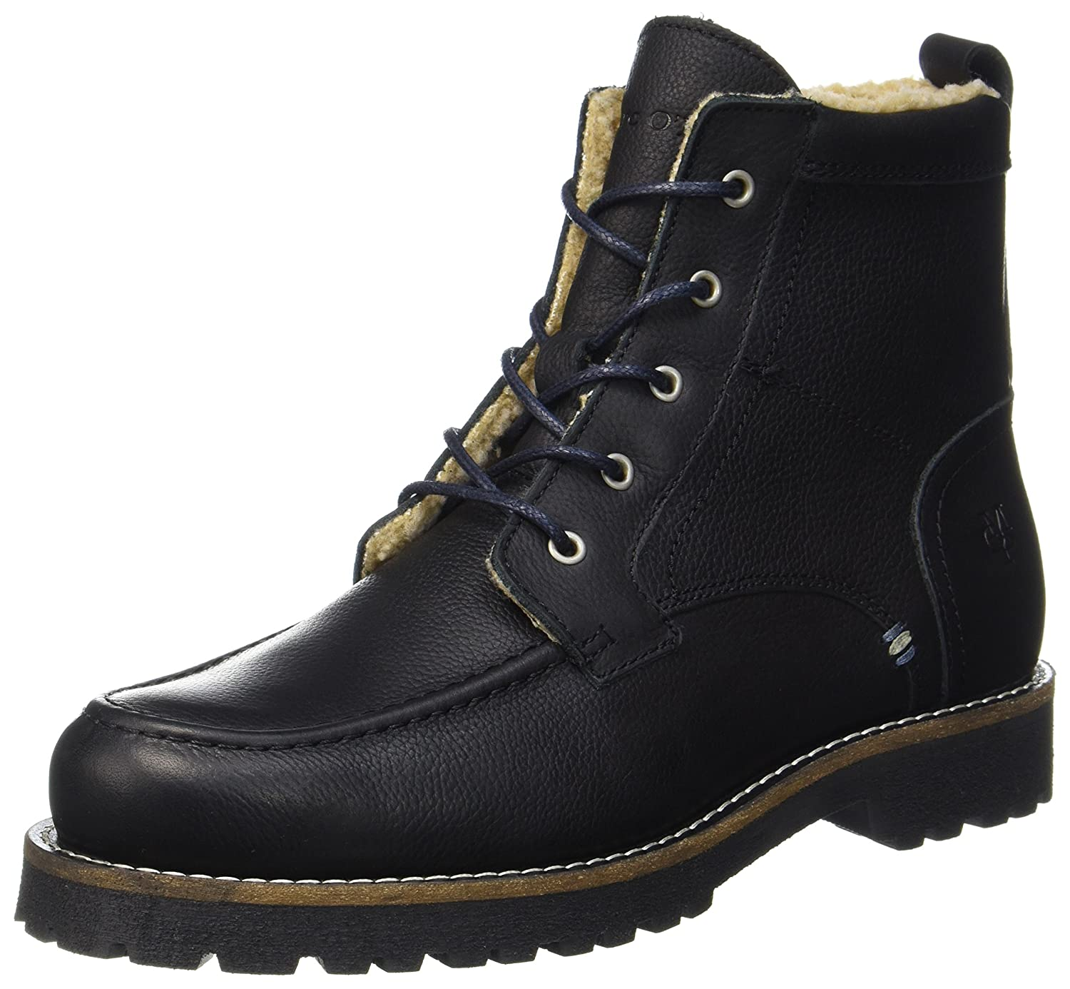 61020036303114 Lace Flatheel Bootie, Mens Warm-Lined Short-Shaft Boots and Bootees Marc O'Polo