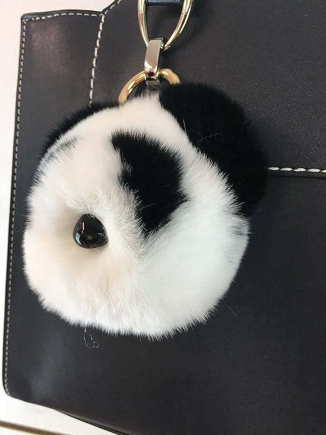 Amazon.com: Llavero con diseño de oso panda de conejo, bolsa ...