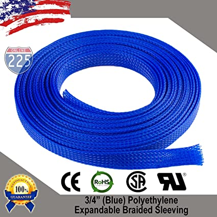 """100 FT 1//8/"""" Black Green Expandable Wire Sleeving Sheathing Braided Loom Tubing"""