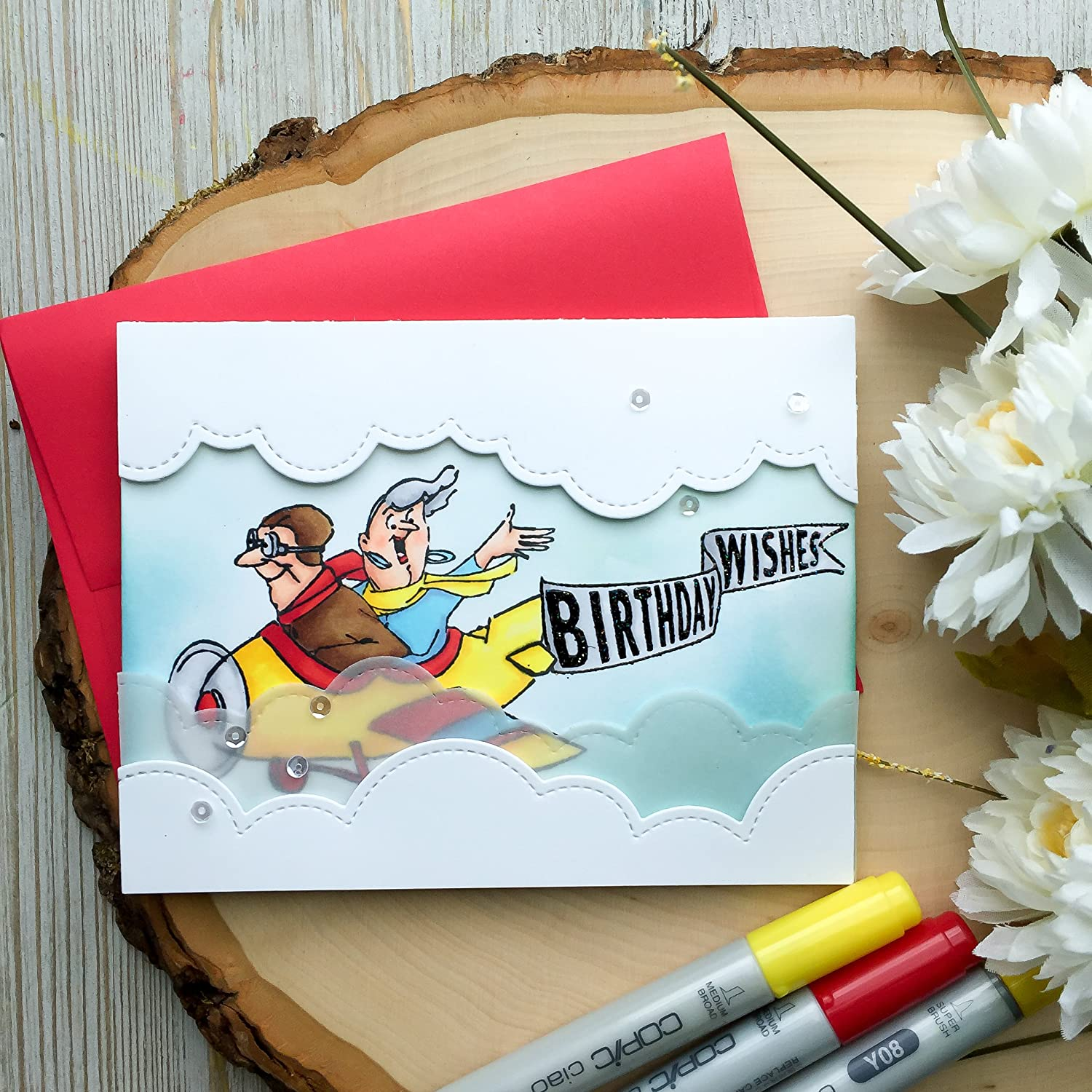 Amazon Handmade Birthday Card Funny Pilot Happy Grandma Grandpa