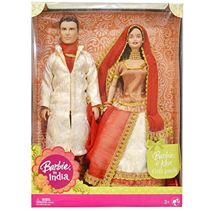 e06d62f5b58 Barbie in India Barbie & Ken Gift Pack Dressed in Traditional India Attire