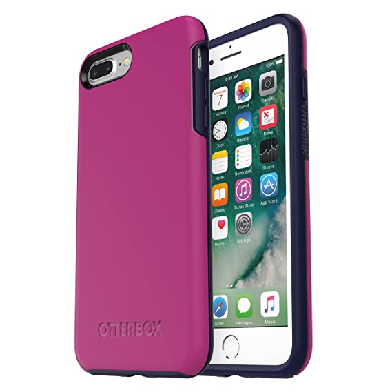 the latest 206d3 e824d OtterBox SYMMETRY SERIES Case for iPhone 8 Plus & iPhone 7 Plus (ONLY) -  Retail Packaging - MIX BERRY JAM (BATON ROUGE/MARITIME BLUE)
