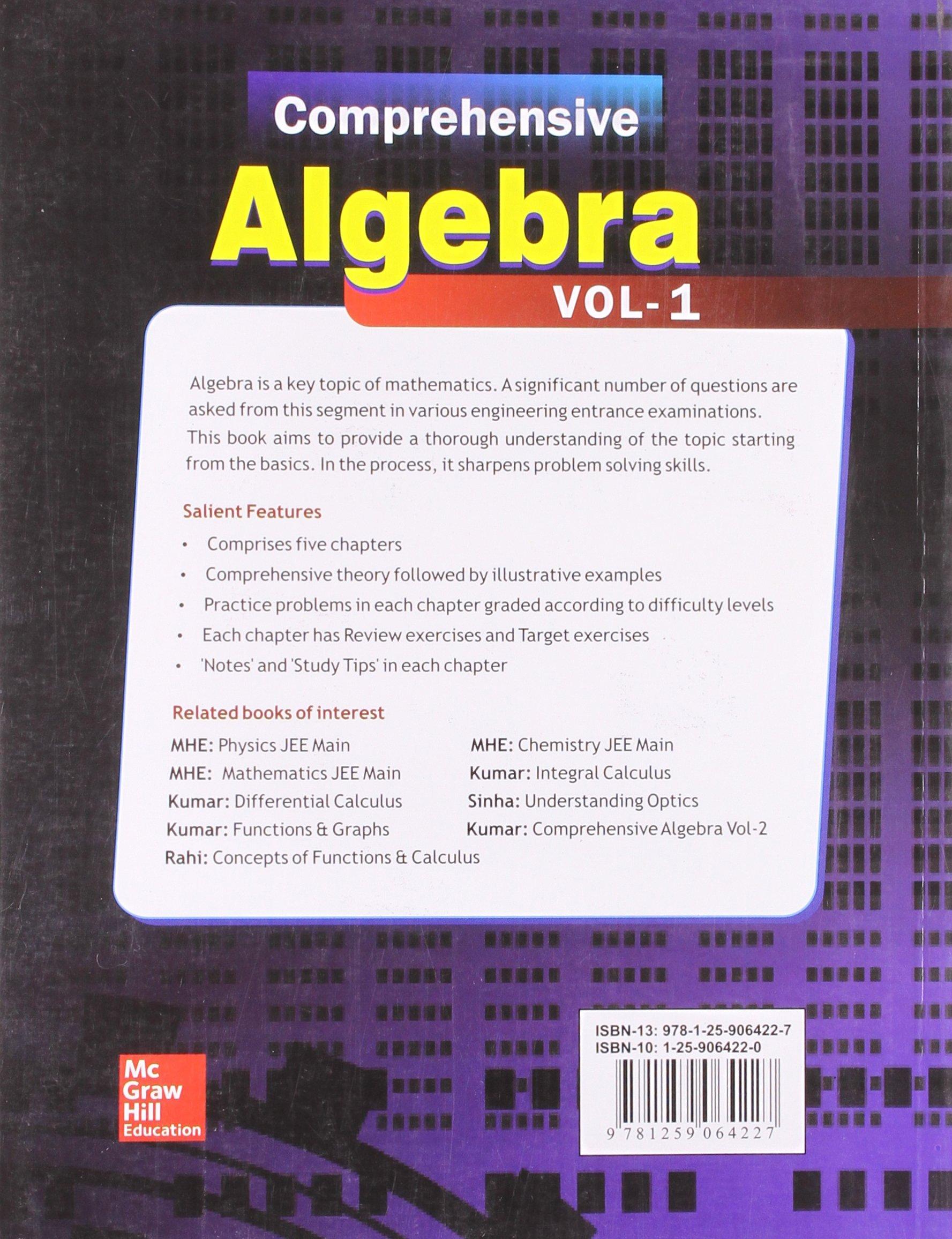 Comprehensive Algebra - Vol  1: Amazon in: Vinay Kumar: Books