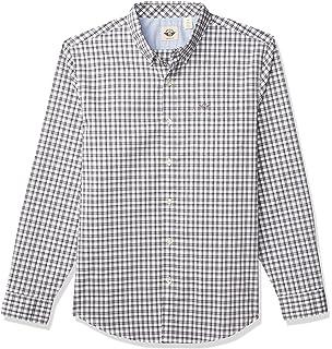 dockers Laundered Poplin Camisa, Azul (Felipe Plaid Delft), M para Hombre: Amazon.es: Ropa y accesorios