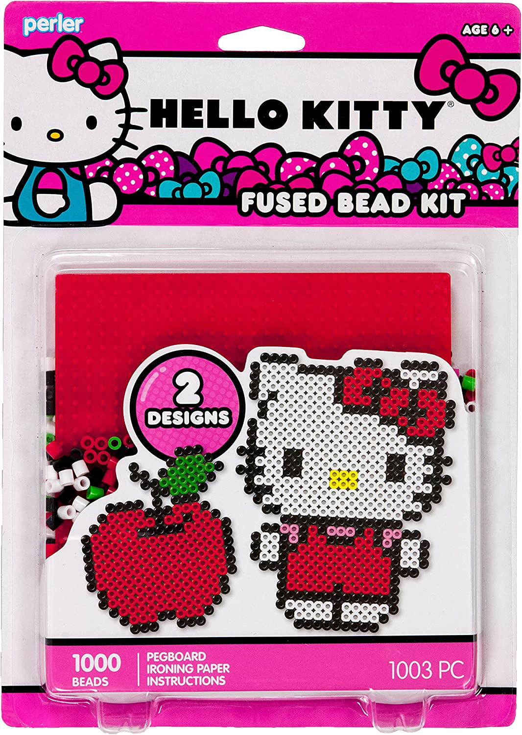 Perler Beads Hello Kitty and Red Apple Fused Beat Kit, 1001pc.
