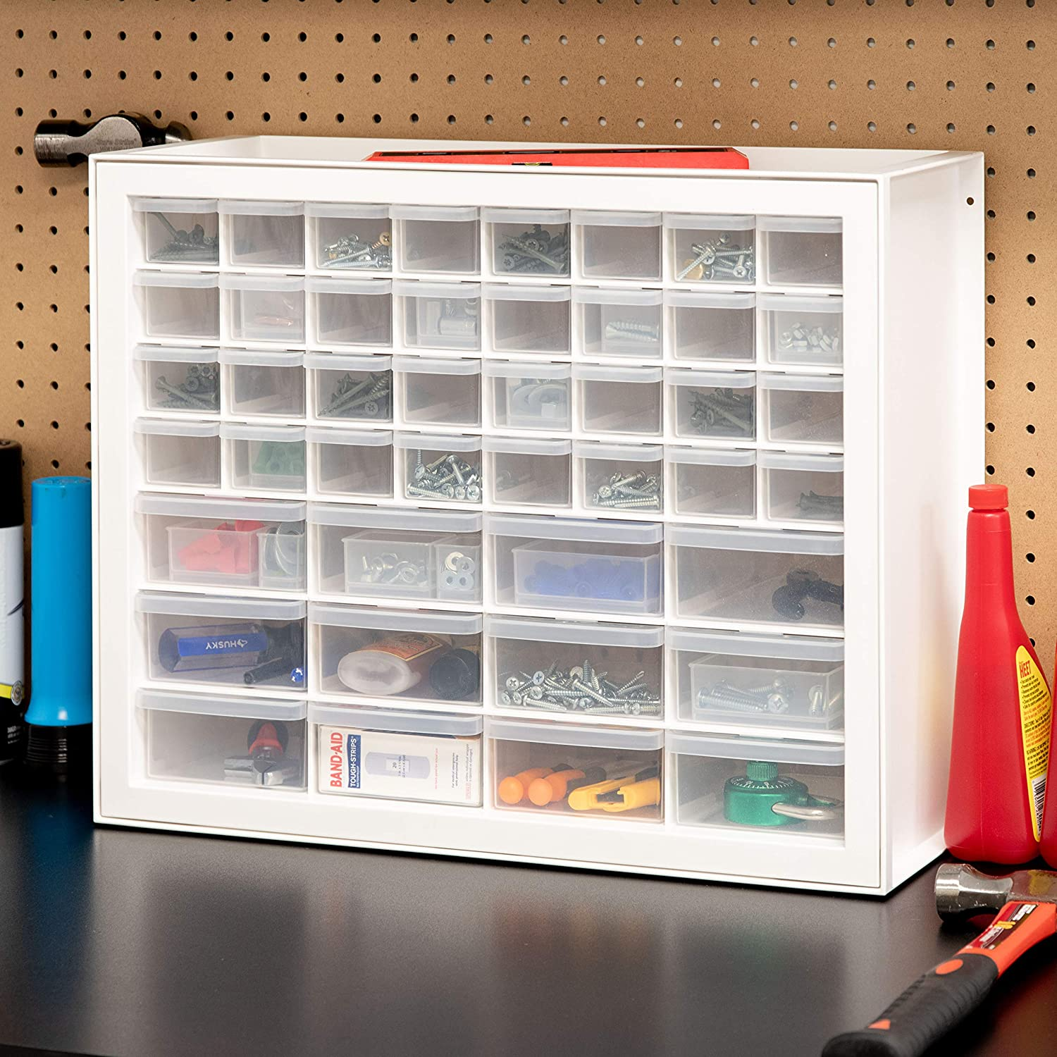 IRIS USA Inc DPC-44 44 Drawer Sewing And Craft Parts Cabinet 19.5 Inch By 15.5 Inch By 7 Inch White