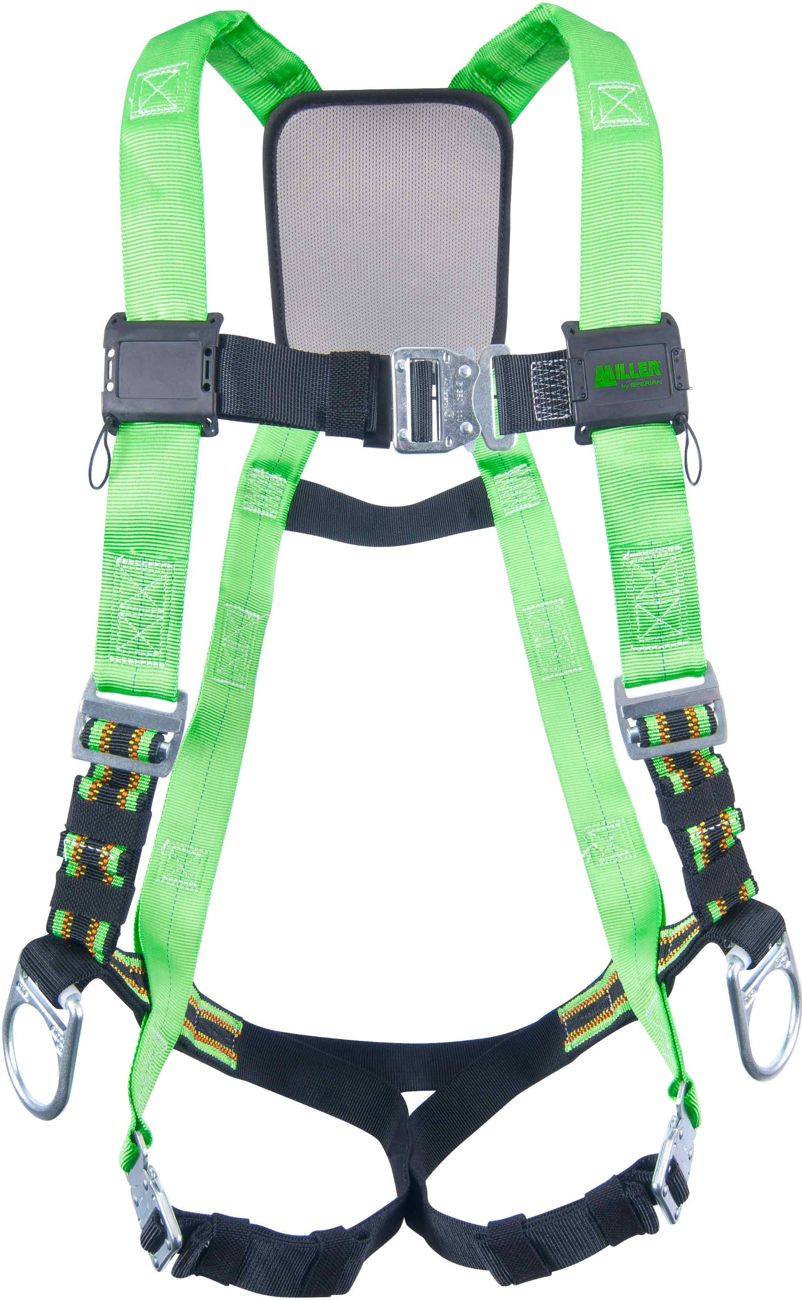 Miller DuraFlex Python Ultra Full-Body Safety Harness with Tubular Webbing & Side D-Rings, Universal Size-Large/XL, 400 lb. Capacity (P950QC-7/UGN) by Honeywell