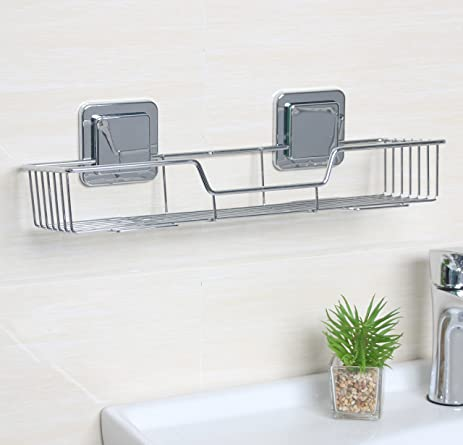 ARRTOP Bath Shower Caddy Shelf, Bathroom Kitchen Storage Organizer Basket  Rack (Large Rectangle Shower