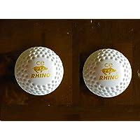 CE Rhino Dimple Silver Hockey Turf Ball- (White) - Pack of 2 Ball