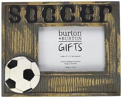 Amazon.com - Burton & Burton Rustic Distressed Soccer Frame -Gift ...