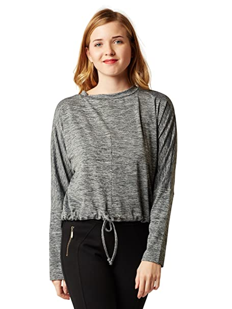 e7e57ee8399c63 Miss Chase Women s Grey Tie-Up Top  Amazon.in  Clothing   Accessories