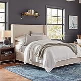 "Amazon Brand – Stone & Beam Locklar 100% Cotton Lightweight Textured King Coverlet Set, Easy Care, 104"" x 90"", White"