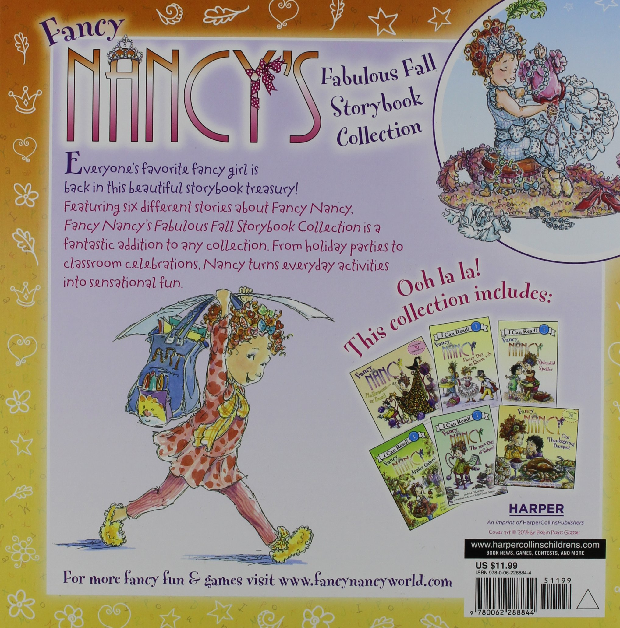 amazoncom fancy nancys fabulous fall storybook collection 9780062288844 jane oconnor robin preiss glasser books - Fancy Nancy Halloween