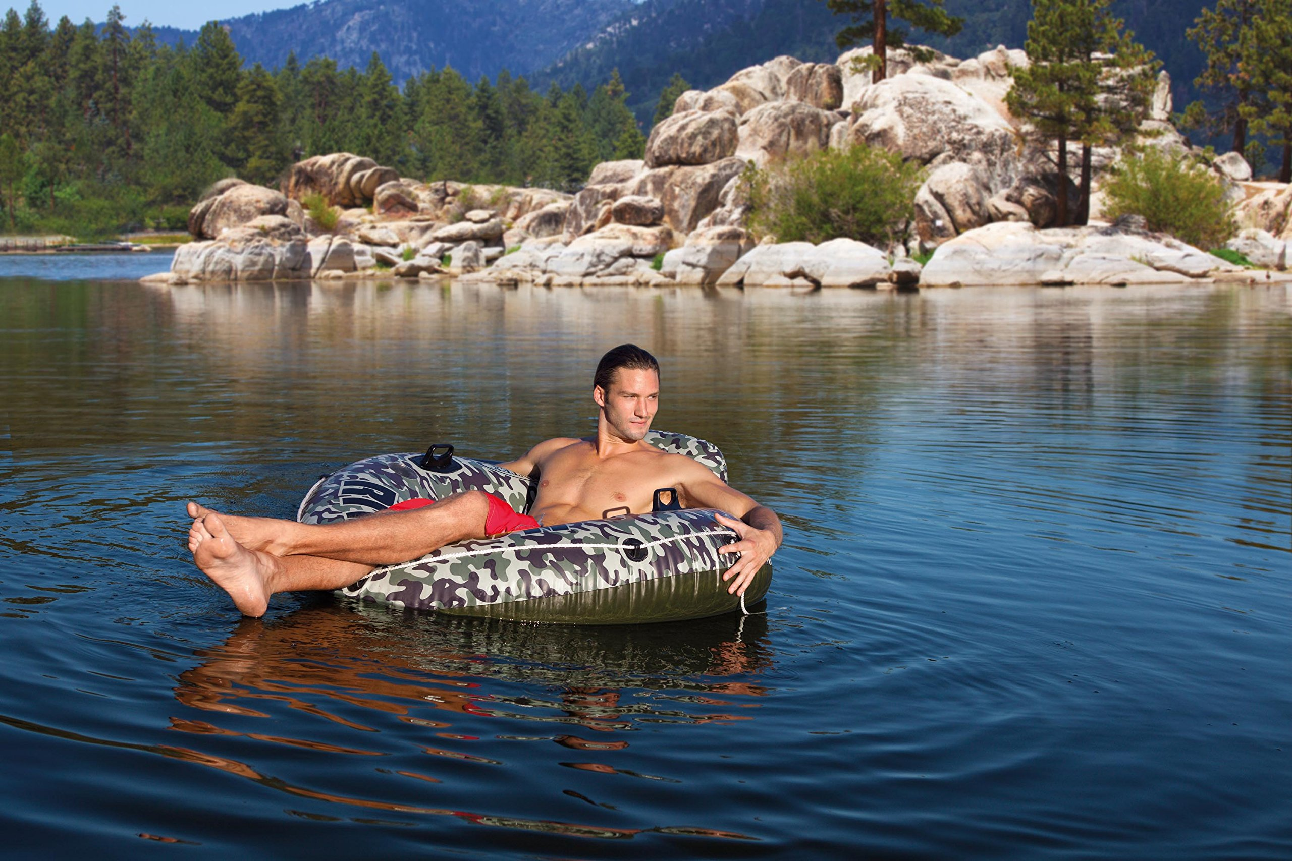 Intex Camo River Run I Inflatable Floating Tube Raft (2 Pack) | 58835EP by Intex (Image #4)