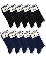 Mat & Vic's Calze, ottima qualità e comodità, OEKO-TEX 100 - 35 36 37 38 39 40 41 42 43 44 45 46 (10 paia)