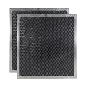 2 PACK Air Filter Factory Compatible Replacement For GE WB2X9760 Range Hood Charcoal Carbon Filter