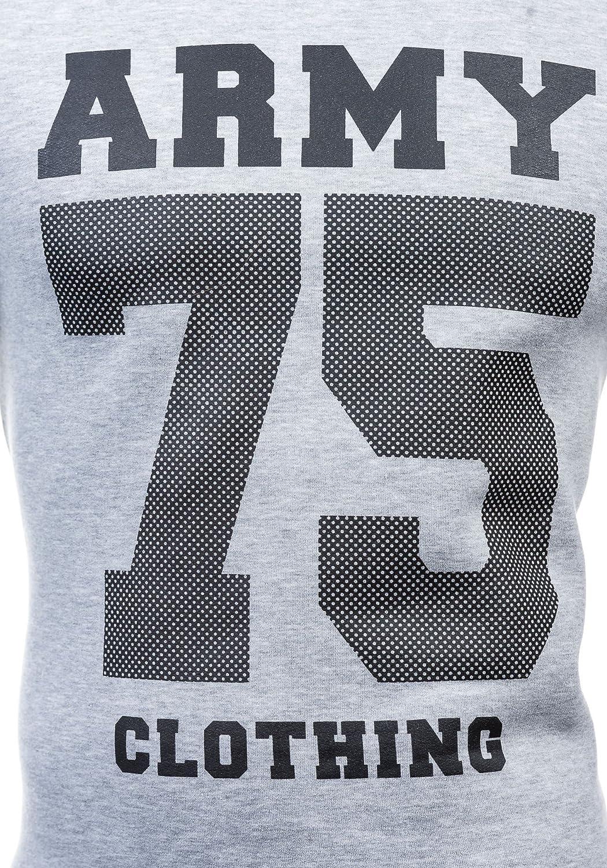 BOLF Men's Slim Fit Blouse Overprint Crew-Neck ATHLETIC 0593
