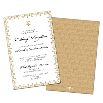 amazon co jp set of 10 gold border personalised wedding reception