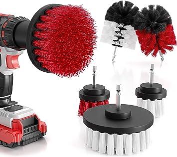 M A Quality 6er Set Bürstenaufsatz Bohrmaschine Weiche Harte Reinigungsbürsten Für Alle Oberflächen Extra Leichte Reinigung Drill Brush Bürstenaufsatz Akkuschrauber Baumarkt