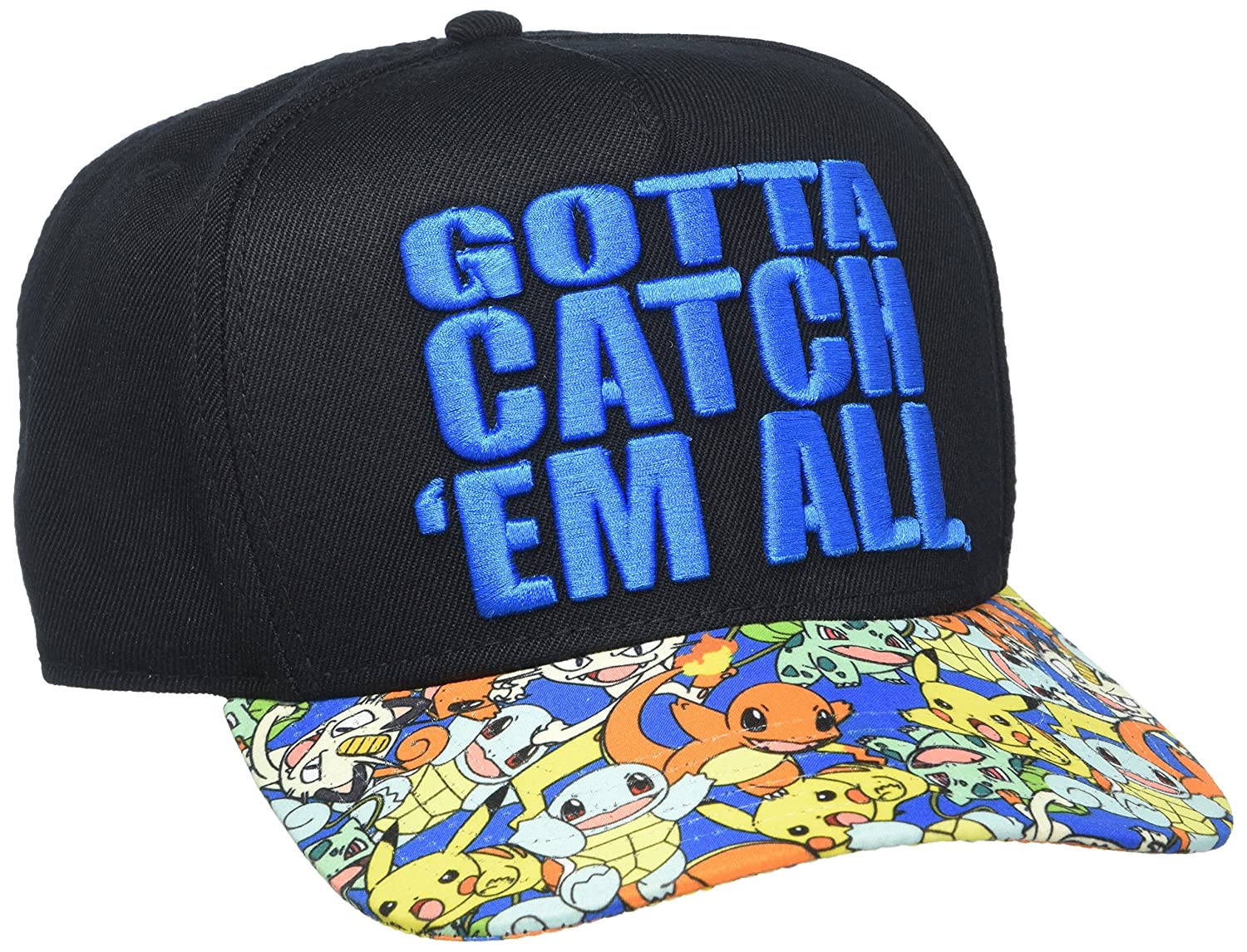 Amazon.com  bioWorld Pokémon Gotta Catch  Em All Snapback Hat  Toys   Games e181ae9531da