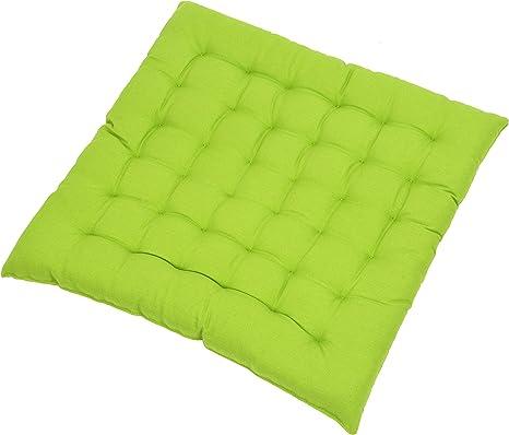 Fabric Cushion 40x40x3 5 Cm Plain Dining Chair Cushion Seat Pad Cil Assorted Colours Amazon De Kuche Haushalt