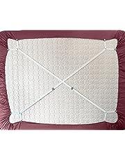 Lot de 2supports pour draps de lit réglables avec attaches