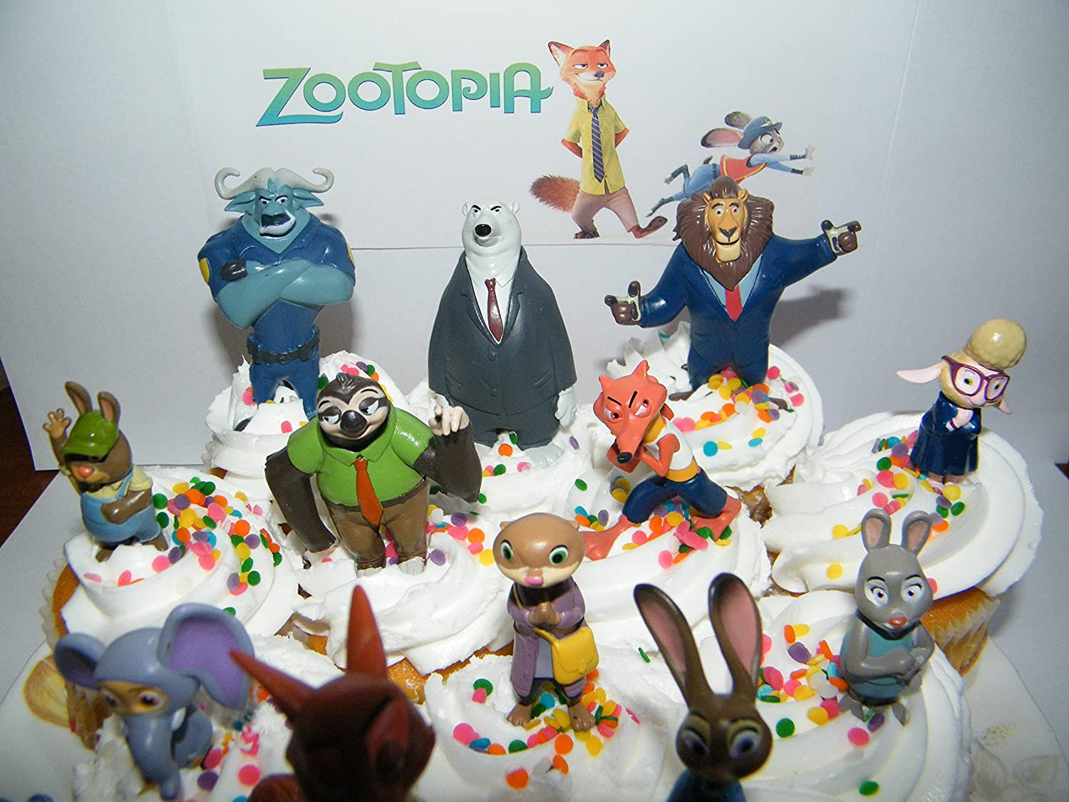 Zootopia Cake Toppers