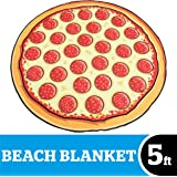 BigMouth Inc Giant Pizza Beach Blanket, Oversized Beach Towel, Ulta-Soft Microfiber Towel