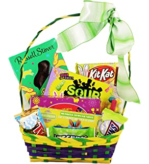 Amazon classic easter gift basket pink premade and shrink classic easter basket for teenagers college student or military members negle Image collections