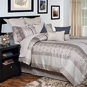 Lavish Home 13-Piece Gabriella Embroidered Comforter Set, Queen