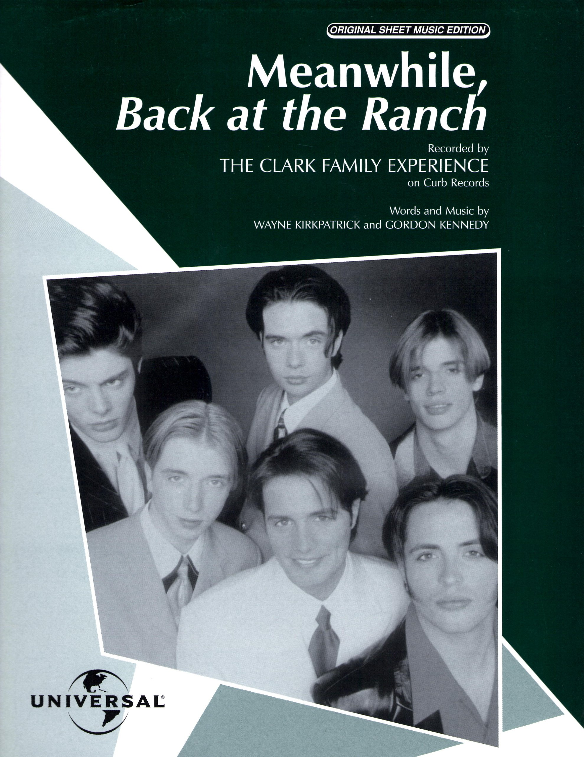 """Read Online The Clark Family Experience....""""Meanwhile, Back At The Ranch""""....Sheet Music PDF"""