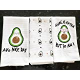 Cotton Kitchen Hand Towels Set, Soft Highly Absorbent 100% Terry Cloth Tea Towel Simple Funny Design Decorative Durable Large