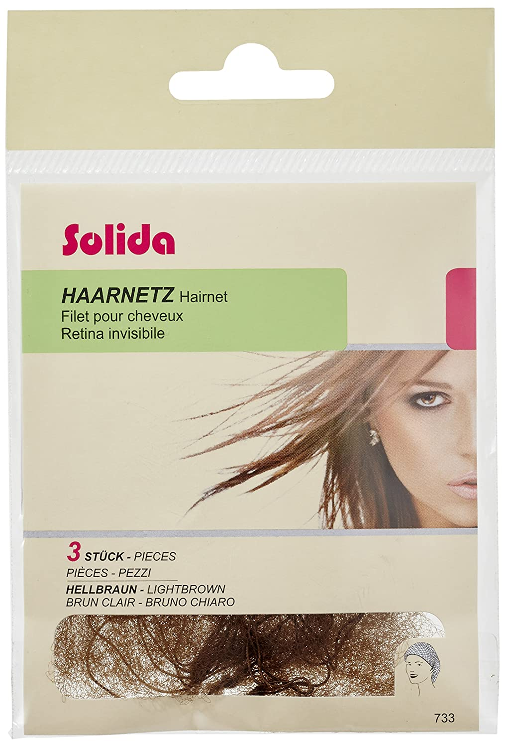 Solida Hair Net Light Blonde Pack of 3