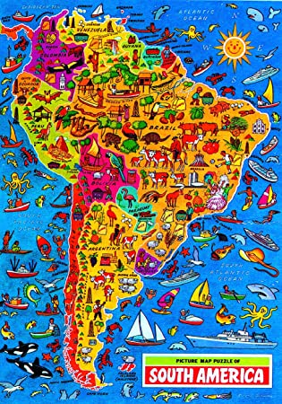 South America Map Jigsaw Puzzle By James Hamilton Grovely Amazon - Usa map jigsaw puzzle