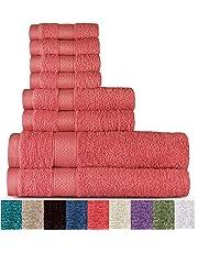 Welhome 100% algodón 8 pieza juego de toallas