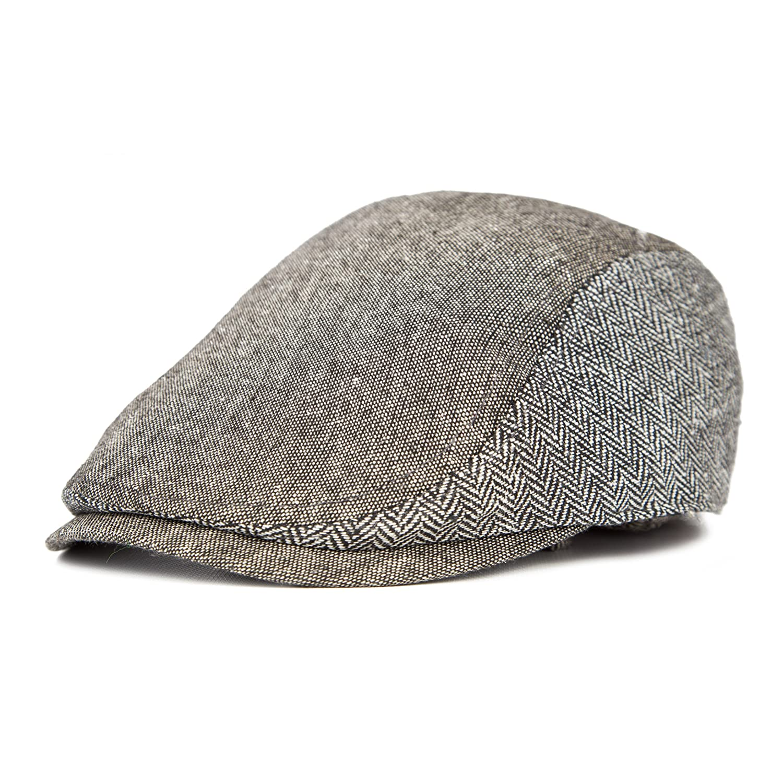 FashionTS TS Herringbone Mens Wool Gatsby Cap newsboy IVY Hat