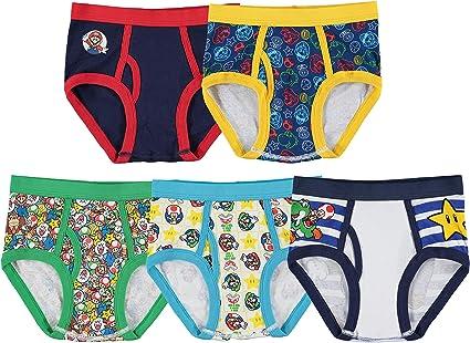 Super Mario Boxer Briefs Compression Underwear 2pc NEW Shorts BOYS Size 4 6