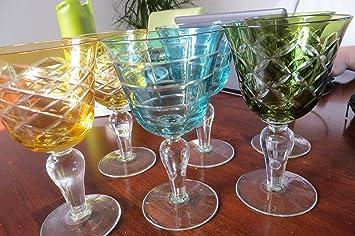 Weingläser Rot weingläser multicolor 6er set pols potten verschiedene farben