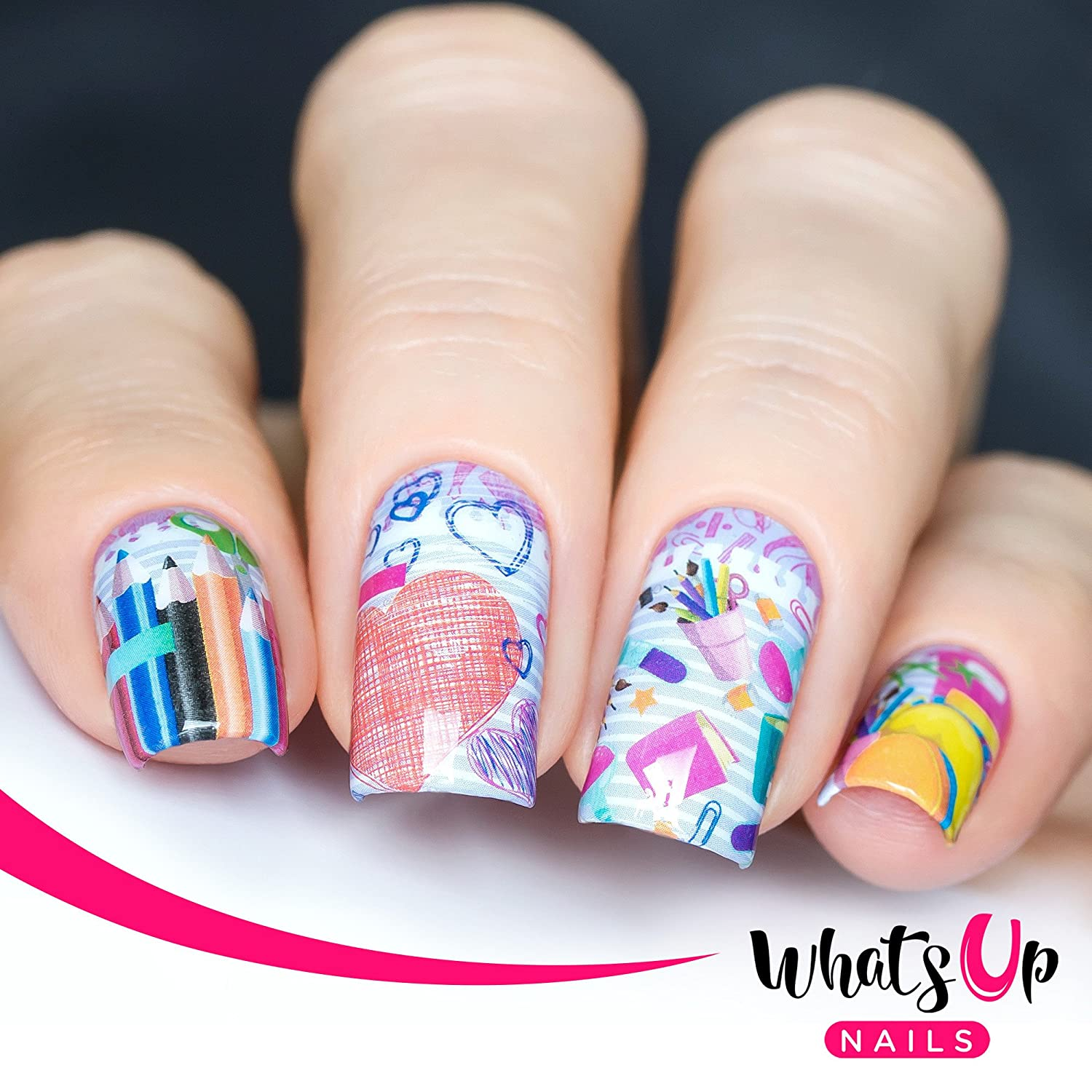 Amazon Com Whats Up Nails P110 School Rules Water Decals Sliders For Nail Art Design Beauty
