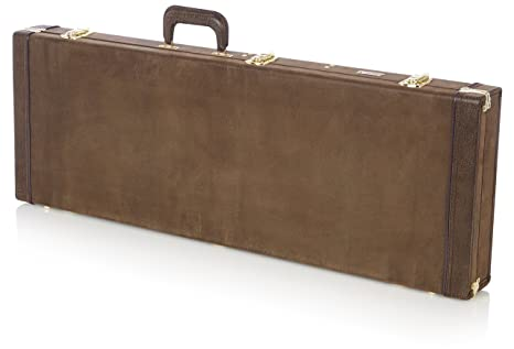 GATOR GW-ELECT-VIN - Estuche para guitarra eléctrica de madera, color marrón