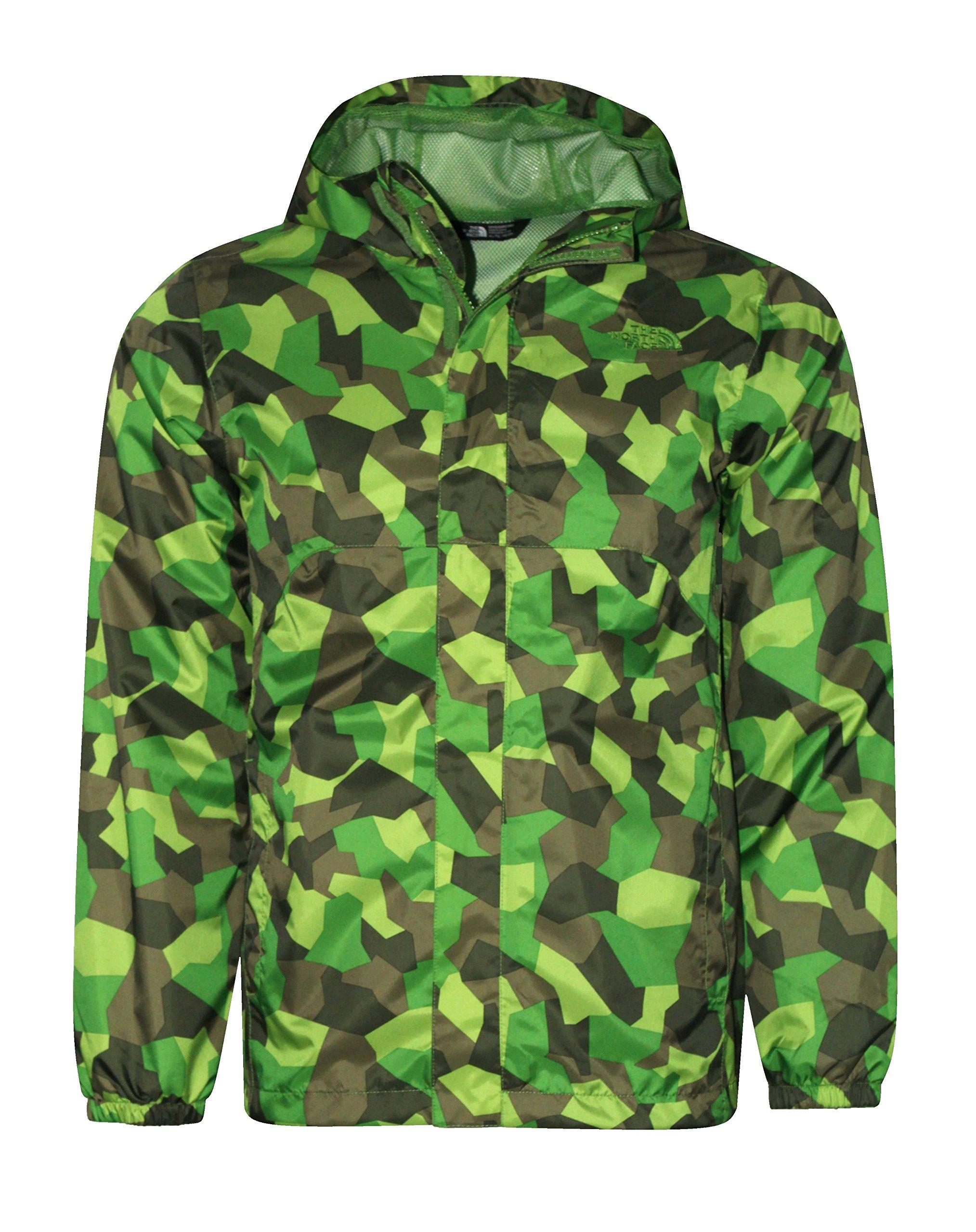 The North Face James Shell Youth Boys Rain Hooded Jacket (M 10/12, Flsh Green)