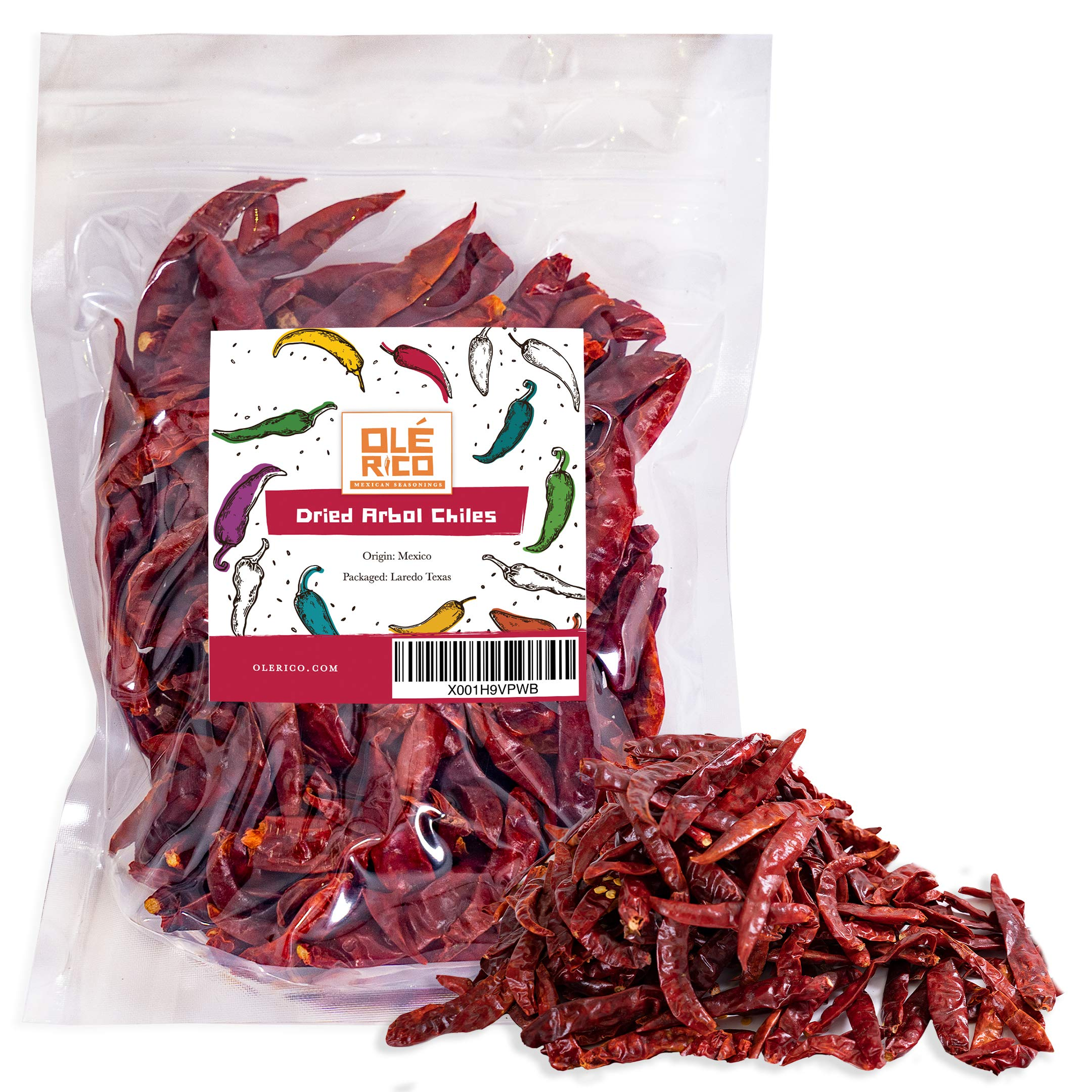 Chile de Arbol Dried Peppers (4 oz) By Ole Rico