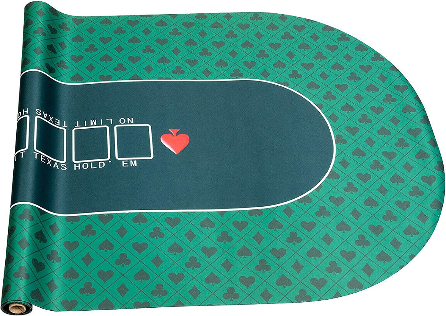 71 x 36 Portable Poker Table Top with Carrying Bag HomyDelight Table Accessory
