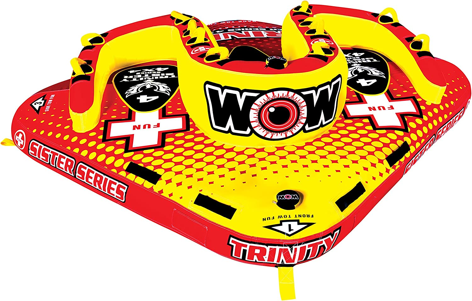"WOW World of Watersports, 15-1080, Trinity Sister Series Face to Face ""S"" Shaped Towable, 1 to 4 Person"